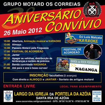 26-Maio com os Correias  GM-Folheto2012P